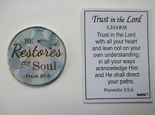 k He restores my soul TRUST in the LORD Pocket token Charm Ganz rehab recovery