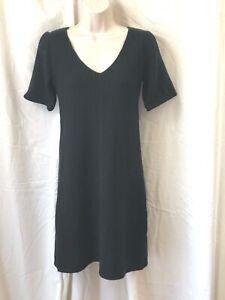 "Theory ""Magela"" Cashmere Sweater-Dress Black ShortSlv Above Knee Empire Waist M"