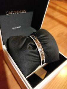 Bracciali Calvin Klein 3 Pezzi In Acciaio e zirconi.