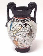 P. VAGLIS Hand-Painted & Signed Replica of Ancient Greek Small Amphora Vase