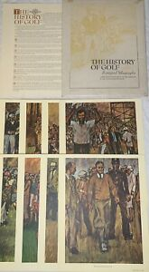 Set of 8 Lithographs The History Of Golf Bill Brauer 1966 Arnold Palmer Masters
