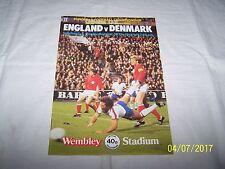 Campeonato Europeo Fotball ~ ~ grupo 1 Inglaterra V Dinamarca ~ 12th de septiembre de 1979