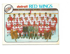 1978-79 O-Pee-Chee #197 Detroit Red Wings Team Checklist