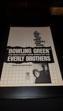 Everly Brothers Bowling Green Rare Original Promo Poster Ad Framed!
