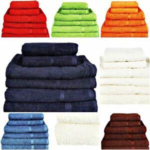 Face Cloths Hand Bath Towels Luxury 500 GSM Sheets Bale Set 100% Egyptian Cotton