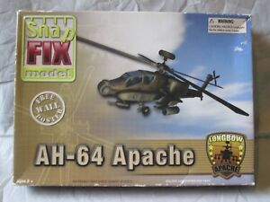 SNAP FIX MODELS AH-64 APACHE LONGBOW MODEL KIT #50562 WITH POSTER