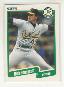 RICK HONEYCUTT 1990 Fleer Canadian Canada #11 Oakland A's NM