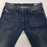 Diesel LARKEE Mens Jeans W34 L34 Blue Regular Fit Straight Mid Rise
