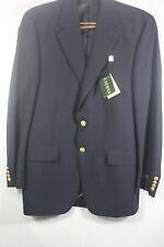 NEW RALPH LAUREN Mens Navy Blue Jacket Blazer Sportcoat Wool Gold 40 T Ret. $350