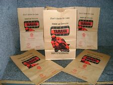 YAMAHA NOS DEALER PARTS BROWN PAPER BAG LOT KENNY ROBERTS RZ350 TRACK LOGO AHRMA