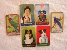 1950s  COLES  NAMED  MIXED SWAP CARDS X 6   2 PAIRS   FAIR CONDITION