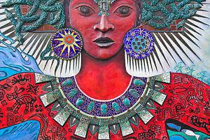 A0 SIZE CANVAS PRINT - SOUTH AMERICAN URBAN STREET ART  GRAFFITI painting