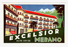 LUGGAGE LABEL ITALY MERANO EXCELSIOR HOTEL