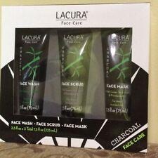 Lacura Face Care Charcoal Face Wash, Scrub, Mask 3x 2.5oz. NIB!