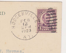 US STAMPS SC# 555 FDC HODGENVILLE KY FEB. 12, 1923, 3ct LINCOLN RARE PPC COVER