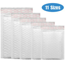 25/50/100Pc Any Size Bubble Lined Padded Envelopes Poly Mailers Self-Sealing
