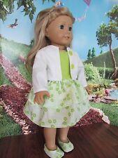 "homemade 18"" american girl/madame alexander 2 piece jacket/ dress doll clothes g"