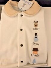 Designer Baby winter theme All-in-One Velvet Babygrow Sleepsuit 0-3Mth Cambrass