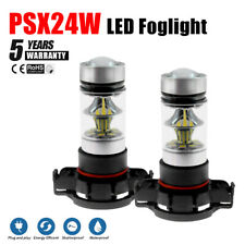 2Pc 100W White LED Fog PSX24W Light Bulbs Lamp For Jeep Grand Cherokee 2011-2012