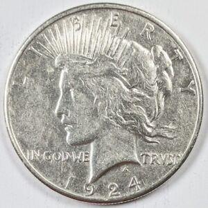 1924-S Peace Silver Dollar 190840B