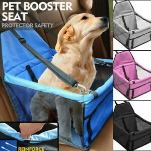 Travel Folding Dog Cat Pet Puppy Car Carrier Booster Seat Safety Bag Belt