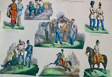 Armée Autrichienne 47 x 35,5 cm, lithographie en couleur
