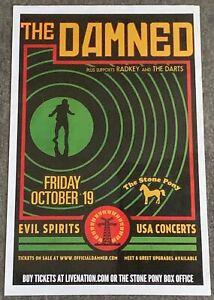 October 19,2018 Stone Pony gig poster ~ THE DAMNED, Radkey, The Darts ~ 11x17