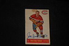JEAN GUY TALBOT 1957-58 PARKHURST SIGNED AUTOGRAPHED CARD #9 CANADIENS