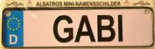 Gabi mini-namensschild ( KFZ - MARCA DE AUTOMÓVILES)