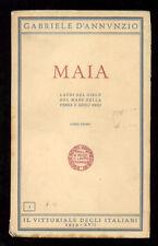 D'ANNUNZIO GABRIELE MAIA LAUDI IL VITTORIALE DEGLI ITALIANI 1939 OPERE 5