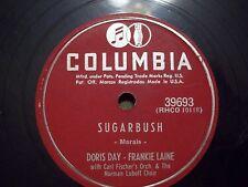 DORIS DAY & FRANKIE LAINE SUGABUSH & HOW LOVELY COOKS THE MEAT 78 COLUMBIA 39693
