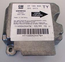 Opel Vectra B Airbagsteuergerät Bj 1999 Siemens 09180800