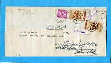 1960 OLIMPIADI ROMA £.5 USATO COME SEGNATASSE DUE ESEMPLARI + S.T. £.20 (233127)