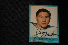 JIM NEILSON 1962-63 TOPPS ROOKIE SIGNED AUTOGRAPHED CARD #49 RANGERS