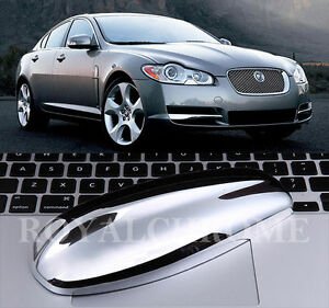 AU STOCK PREMIUM Bright CHROME Antenna Aerial Cap Cover for JAGUAR XF XJ X TYPE