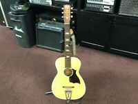 VINTAGE STELLA HARMONY STEEL REINFORCED NECK ACOUSTIC GUITAR. MADE IN USA