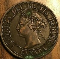 1891 CANADA LARGE CENT PENNY COIN - LDLL Obverse #3