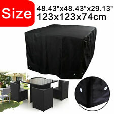 More details for heavy duty waterproof garden patio furniture covers rattan table cube outdoor uk