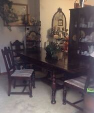 Dark Wood Tone & Walnut Dining Table Antique Furniture for sale | eBay