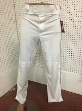 Rawlings Men's Premium Relaxed Fit White Baseball Pants Black Piped Small