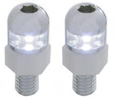 CLEAR LED BULLET LIGHT LICENSE PLATE MOUNTING BOLTS CUSTOM HOT RAT ROD  LIGHTING