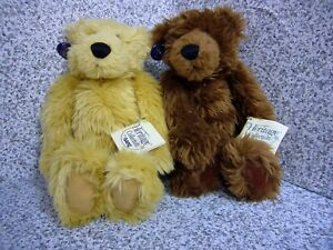 """2 Plush Heritage Collection Ganz Rare Petie Bear  NWT 14"""" 3608 3712 Collectable"""