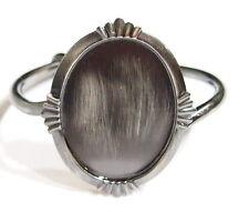 40x30 mm Antique Silver Victorian Nouveau Star Burst Cuff Bracelet Cameo Setting