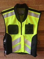 Bravo Victor Riding Vest Neon / Black SM-LG Motorcycle safty vest
