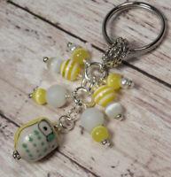 Mermaid Redhead Glass Beads Beaded Wire Beadworx Keychain Key Ring NWT Handmade