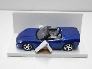 2006 CORVETTE CONVERTIBLE  PROMO MODEL IN BLUE   1.24 NEW IN THE BOX