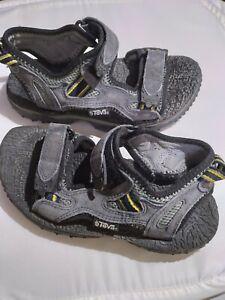 Men's Teva XPDITION Sz 6 Grey Leather Strap #6702 Walking Sport Sandals