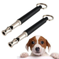 Adjustable Pitch Pet Training Whistle Silent Ultrasonic Key Chain Pet Supplies