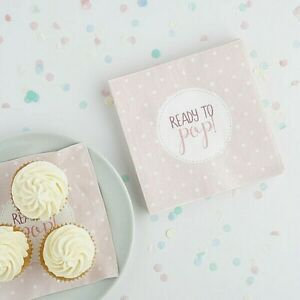 Baby shower napkins - 20 pcs. Table decor. Pink, mint / blue Club Green