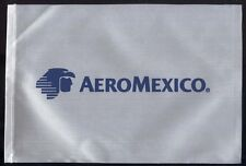 Aeromexico fabric one side desk flag pennant new (no stand) box003